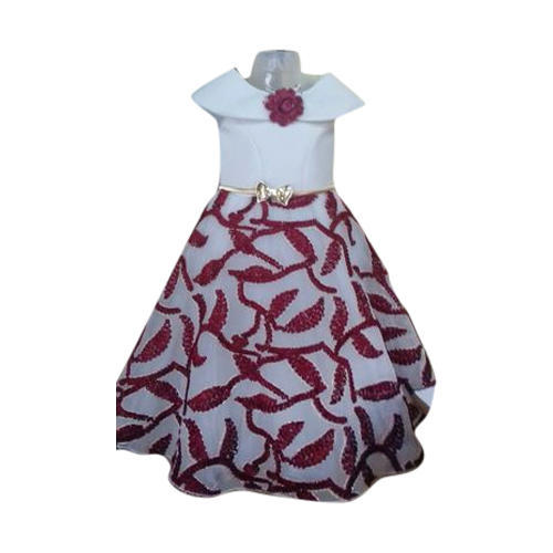 719d38af66b Party Wear Printed Kids Umbrella Cut Frock