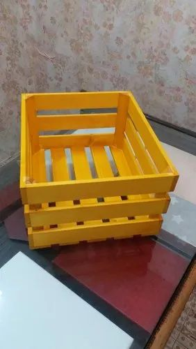 Wooden Basket, Size/Dimension: 12 x 10 x 6 Inch