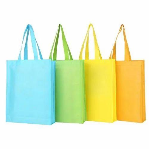 Loop Handle Plain Non Woven Bag, Capacity: 5 to 10 Kg