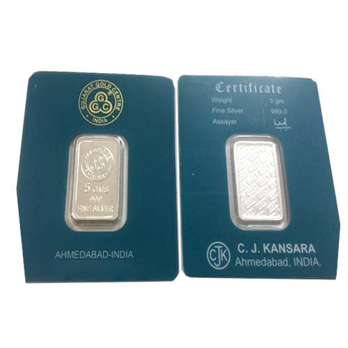 5 Gram Rectangular Pure Silver Coin