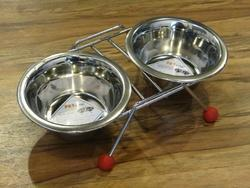 Food & Water Bowl With Stand
