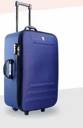 Vogue Nylon Blue Luggage Trolley, Size: 28 Inch