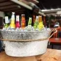 Galvanized Oval Beverage Party Tub