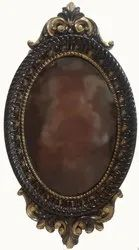 Carved Walnut Antique Wooden Mirror Frame