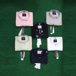 John Wilson Casual Wear Mens Cotton Casual Plain Shirt, Size: M-XXL
