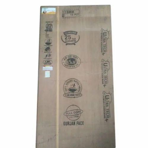 Ultratech Marine Waterproof Plywood, Size: 8x4 Feet, Thickness: 19 mm