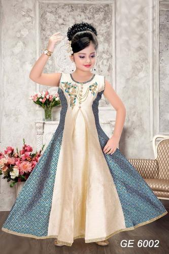 Silk Ethnic Designer Suit for Girls, Age: 3-5 Years
