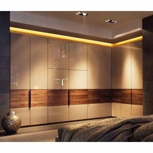 Plywood Modern Modular Designer Acrylic Wardrobe for Residential