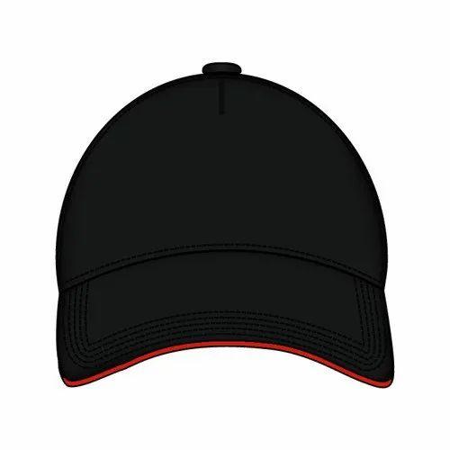 Cotton Mens Black Cap