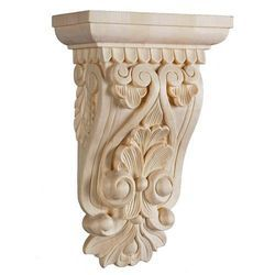 Gypsum Scroll Corbel