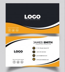 Printed Offset Printing Visiting Card Design for Office