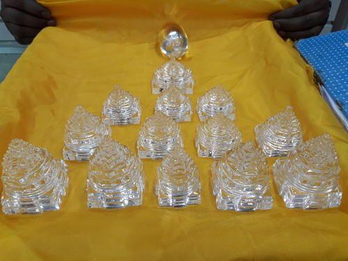 Crystal Products - Natural Crystal Sphatik Meru Shree Yantra