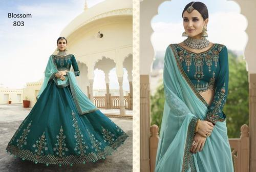 59d29028fd Silk Designer Lehenga Choli, Rs 3710 /piece, Krishna Export | ID ...