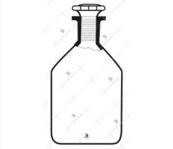 Reagent bottles with stopper transparent