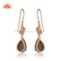 Rose Gold Plated Silver Moonstone Labradorite Earrings Jewelry