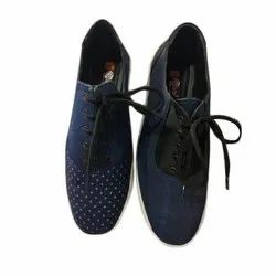 Anand Casual Wear Ladies Polka Dot Canvas Shoes, Size: 5-11