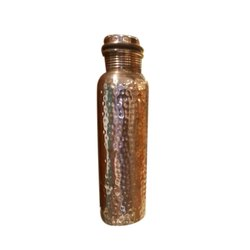 Screw Cap Hammered Copper Water Bottle, Capacity: 1 Liter