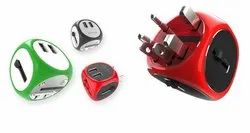 Universal Travel Adapter RED