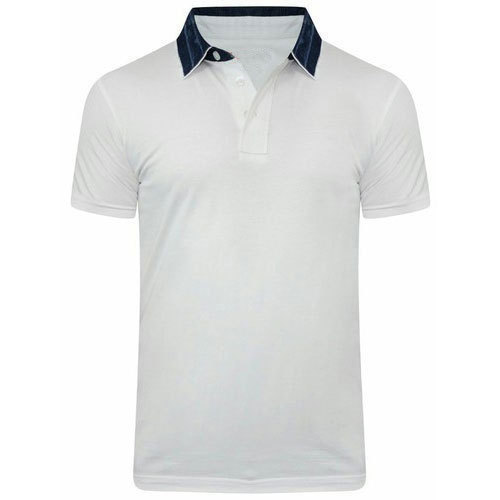 White Mens Corporate Polo Neck T Shirt Rs 200 Piece Mahalaxmi
