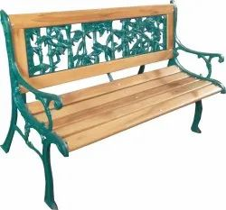 With Arm Rest 3 Seater Wooden Garden bench, With Back