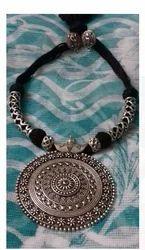 Fancy Designer Silver Necklace