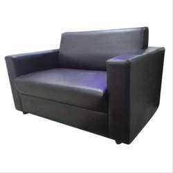 Black Modern Two Seater Sofa, Seating Capacity: 2