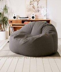Gray Cotton Lounger Bean Bag Cover, For Home