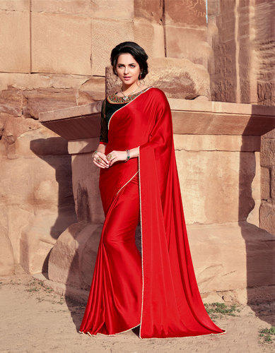 22a2a4b29a Silk Plain Sanskar Satin Saree, With Blouse Piece, Rs 890 /piece ...