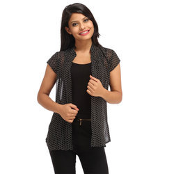Cottinfab Women's Printed Shrug
