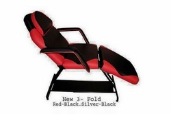 Red Black foldable Tattoo bed cum chair