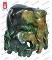 Golden Brass Elephant Family, For Interior Decor