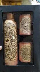 Rawsome Shack Copper Bottle Corporate Gift Set