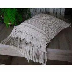 Cotton Macrame Cushion Cover