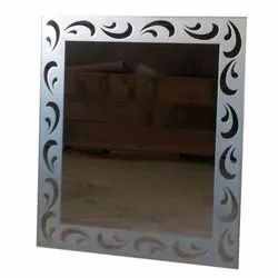 Glass Decorative Wall Mounted Mirror, Mirror Shape: Rectangular