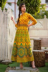 Cotton Designer Long Anarkali Kurtis