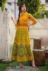 Cotton Designer Anarkali Kurtis