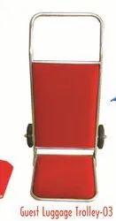 Red Polyester Guest Luggage Trolley 3, Size: 49