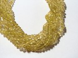 Lemon Topaz Faceted Rondelle Bead Strands