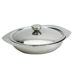 Round Stainless Steel Metal Restaurant Catering Vegetable Serving Dishes With Lid