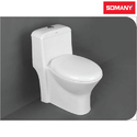 Ceramic Floor Mounted Somany Oolona S Trap One Piece Toilets