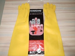 Yellow And Oranfe Unisex Hand Care Industrial 22 Hand Gloves, 22 Inch, for Industry/Material Handling/Assembly