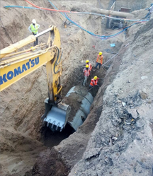 Jointing Sewer Line Network Service
