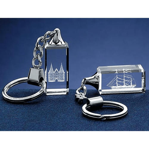 Transparent Crystal Key Chain 2D, Rs 165 /piece Crystal Talent ...