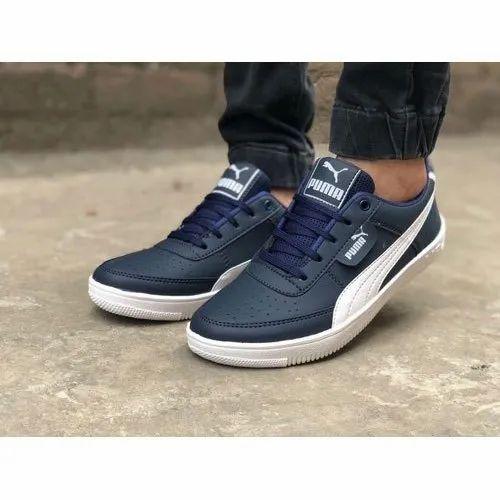 Blue And White Puma Sports Shoe, Size