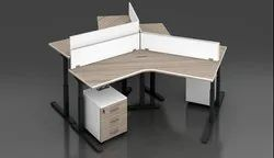 Multicolor Plywood Workstation