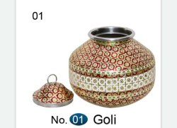 Decorative Meenakari Steel Pot