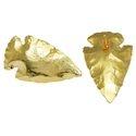 Gold Dip Arrowhead Earring Stud