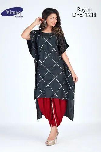 5f0a541e0 Rayon Festive Wear Designer Kaftan Kurti With Dhoti, Rs 845 /piece ...