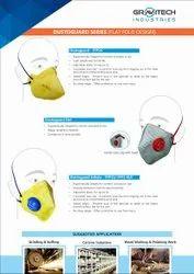 Non-Woven Gravitech FFP1S Dust Safety Mask for Pharma Industry