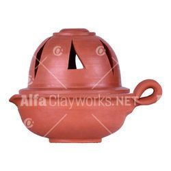 Clay Alladin Lamp / Diya